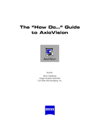 User Manual Zeiss AxioVision