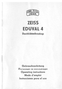 Manuale d'uso Zeiss Eduval 4