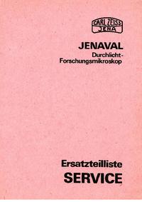 Lista części Zeiss Jenaval