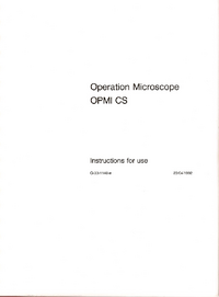 User Manual Zeiss OPMI CS