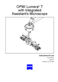 Manuale d'uso Zeiss OPMI Lumera® T