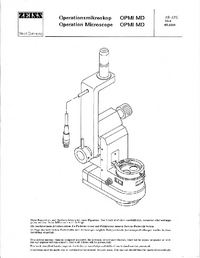 Service Manual Zeiss OPMI MD
