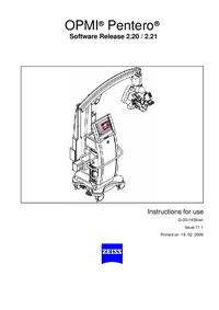 Manual del usuario Zeiss OPMI ® Pentero®