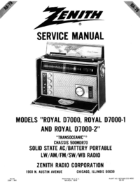 Service Manual Zenith Royal D7000-1