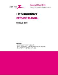 Service Manual Zenith ZD30