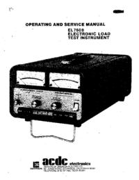 Manual de serviço acdc EL 750 B