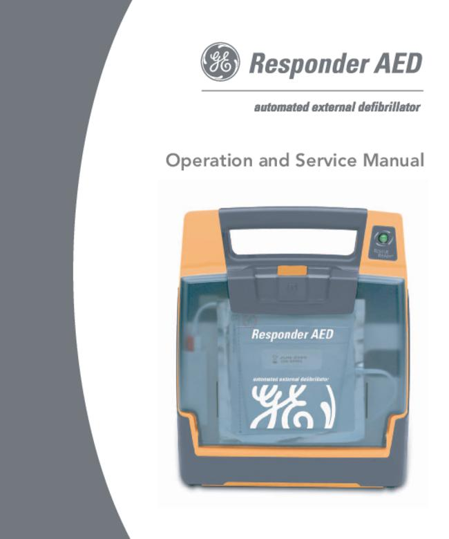 User Manual - Ge Medical Systems Responder Aed - 2