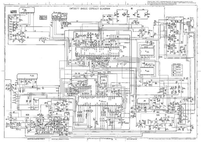 Cirquit Diagram - Hitachi Cmt-2077 - Tv